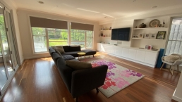 Open plan living provides ample space for filming