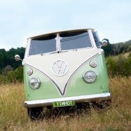 Restored VW Kombi van for photoshoots and filming with Spaces n Places locations agency.
